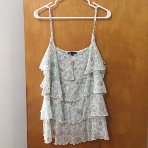 Gap Floral Tiered Tank Top